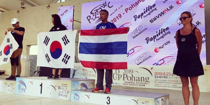 ADAMs on podiums at Paragliding Accuracy world Cup